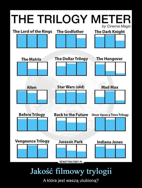 Jakość filmowy trylogii – A która jest waszą ulubioną?