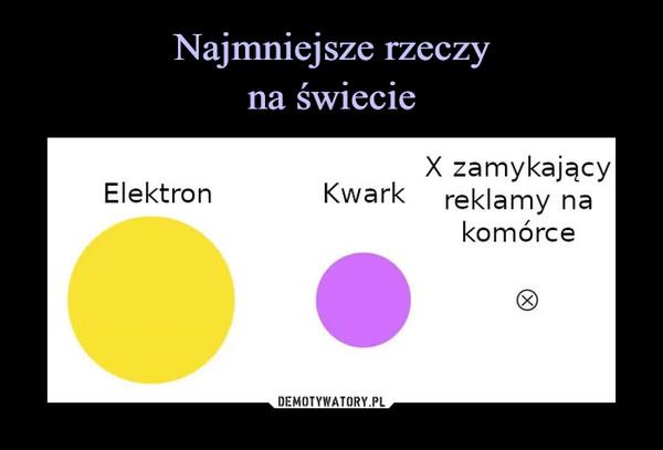 –  X zamykającyKwark reklamy naElektronkomórce