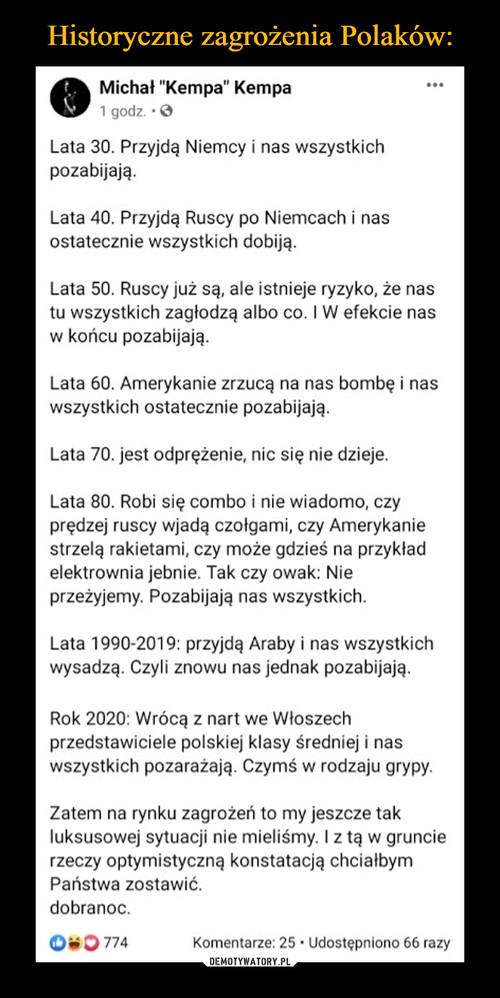 Historyczne zagrożenia Polaków:
