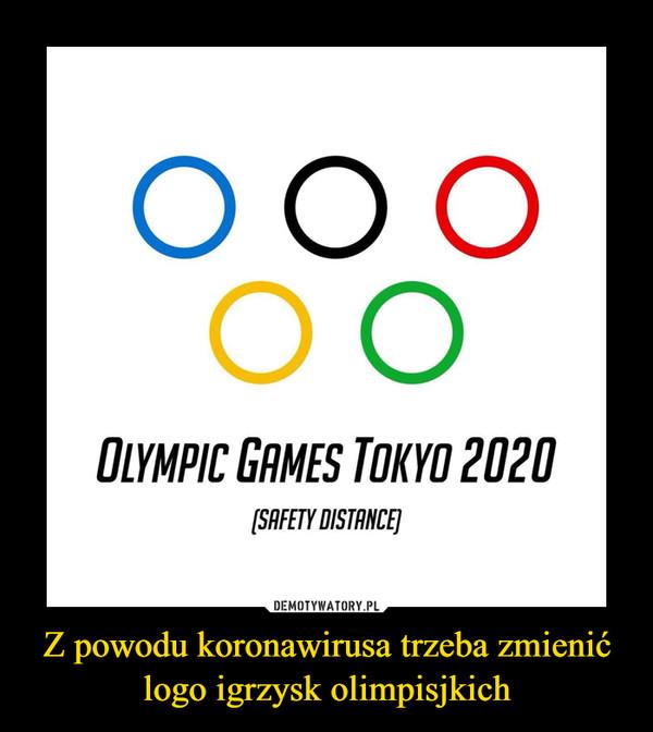 Z powodu koronawirusa trzeba zmienić logo igrzysk olimpisjkich –