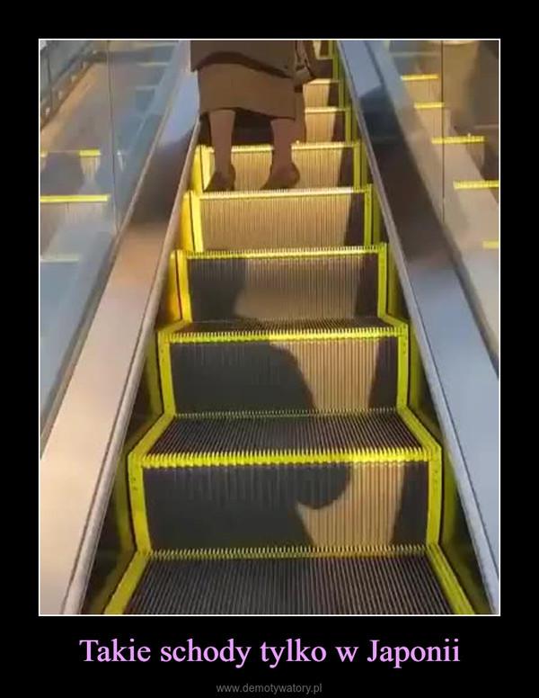 Takie schody tylko w Japonii –
