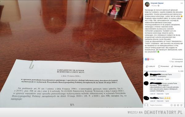 Burmistrz z jajami – Burmistrz Kęt: Nie przyłożę ręki do narażania moich mieszkańców na niebezpieczeństwoCzytaj więcej na https://RMF24.pl/raporty/raport-wybory-prezydenckie2020/najnowsze-fakty/news-wybory-prezydenckie-w-czasie-epidemii-burmistrz-ket-nie-przy,nId,4409754#utm_source=paste&utm_medium=paste&utm_campaign=chrome