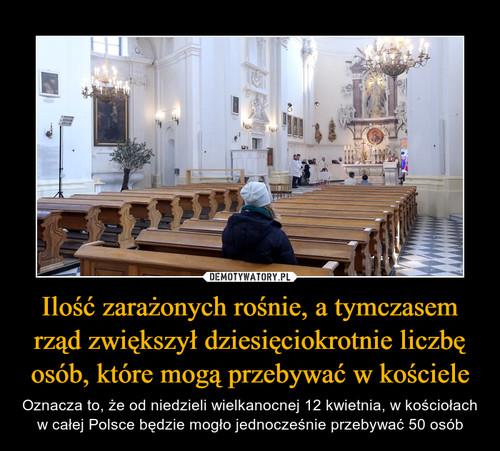 Ilość zarażonych rośnie, a tymczasem rząd zwiększył dziesięciokrotnie liczbę osób, które mogą przebywać w kościele