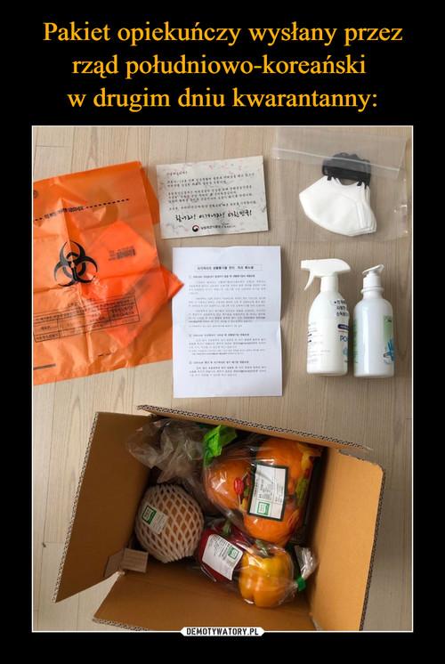 Pakiet opiekuńczy wysłany przez rząd południowo-koreański  w drugim dniu kwarantanny: