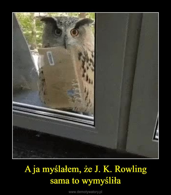 A ja myślałem, że J. K. Rowlingsama to wymyśliła –