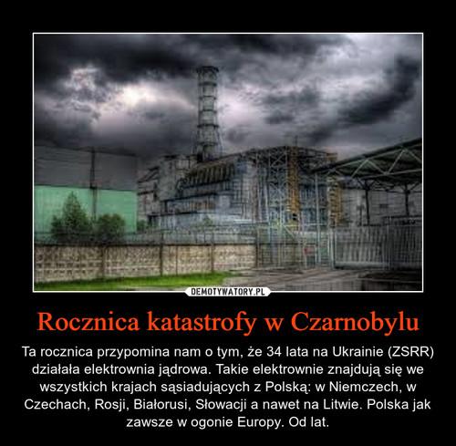 Rocznica katastrofy w Czarnobylu