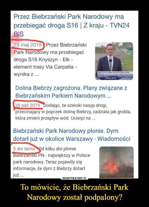 To mówicie, że Biebrzański Park Narodowy został podpalony? –