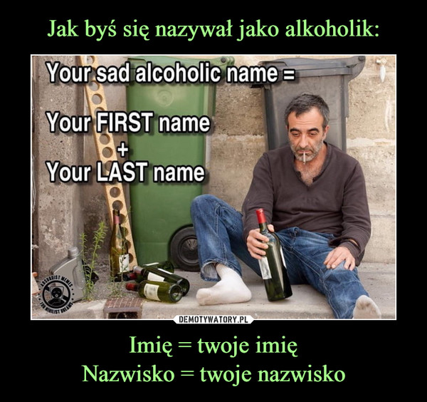 Imię = twoje imięNazwisko = twoje nazwisko –
