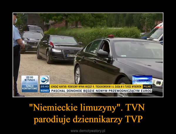"""""""Niemieckie limuzyny"""". TVN parodiuje dziennikarzy TVP –"""