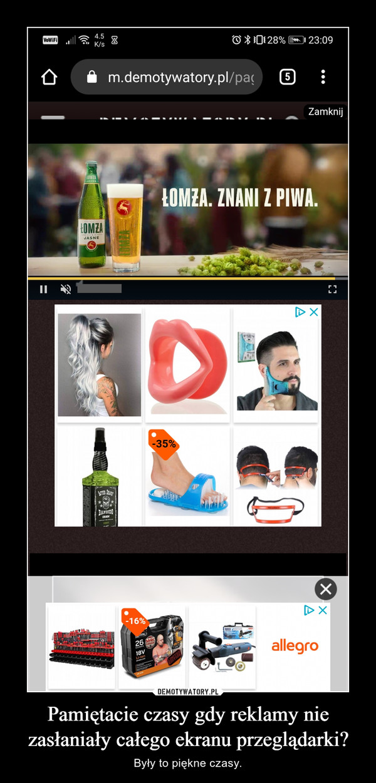 Pamiętacie czasy gdy reklamy nie zasłaniały całego ekranu przeglądarki? – Były to piękne czasy.