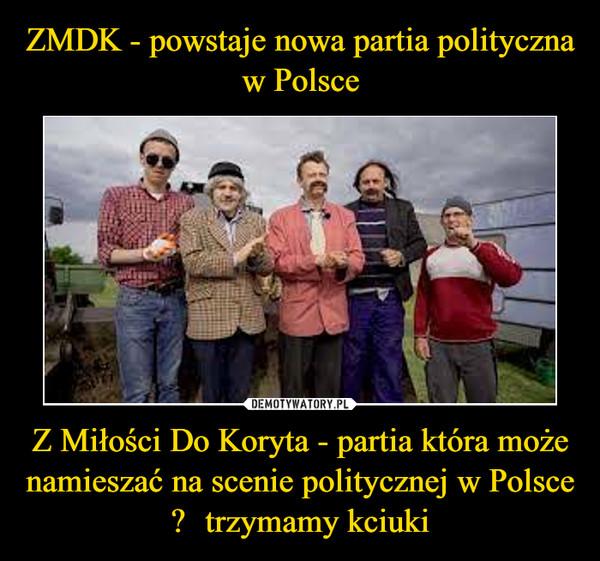 Z Miłości Do Koryta - partia która może namieszać na scenie politycznej w Polsce  –