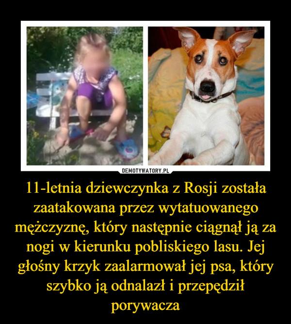 11-letnia dziewczynka z Rosji została zaatakowana przez wytatuowanego mężczyznę, który następnie ciągnął ją za nogi w kierunku pobliskiego lasu. Jej głośny krzyk zaalarmował jej psa, który szybko ją odnalazł i przepędził porywacza –