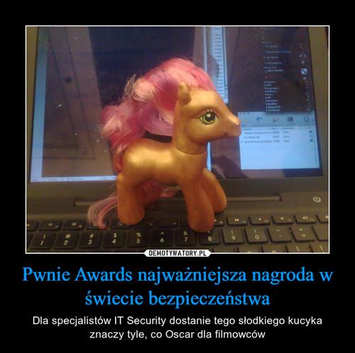 Pwnie Awards najważniejsza nagroda w świecie bezpieczeństwa