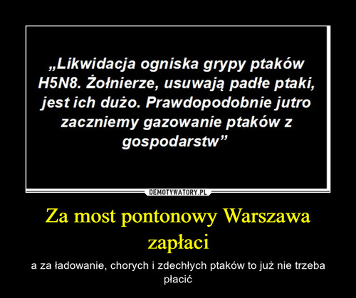 Za most pontonowy Warszawa zapłaci