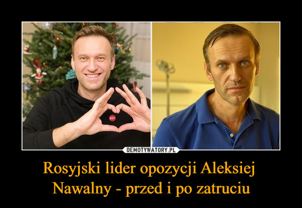 Rosyjski lider opozycji Aleksiej Nawalny - przed i po zatruciu –