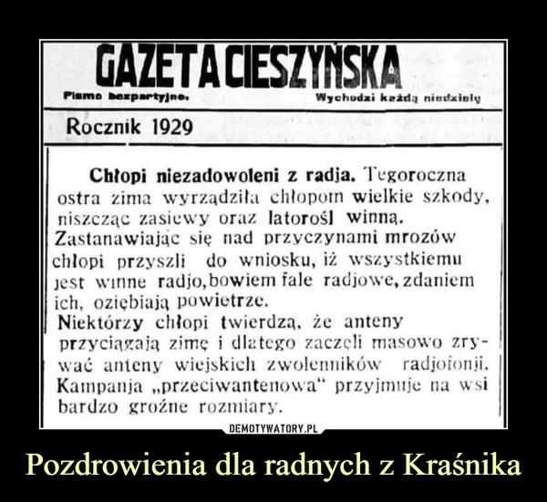 Pozdrowienia dla radnych z Kraśnika –