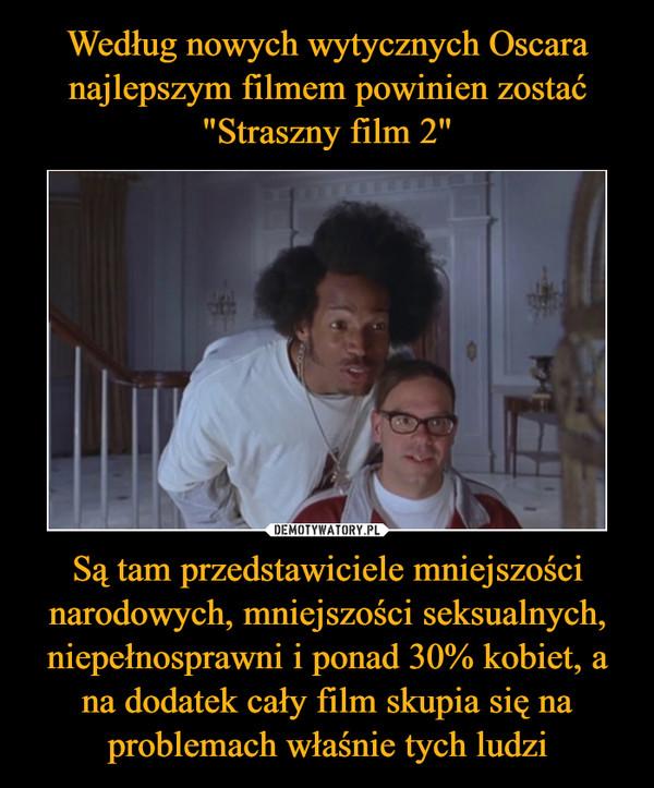 Są tam przedstawiciele mniejszości narodowych, mniejszości seksualnych, niepełnosprawni i ponad 30% kobiet, a na dodatek cały film skupia się na problemach właśnie tych ludzi –