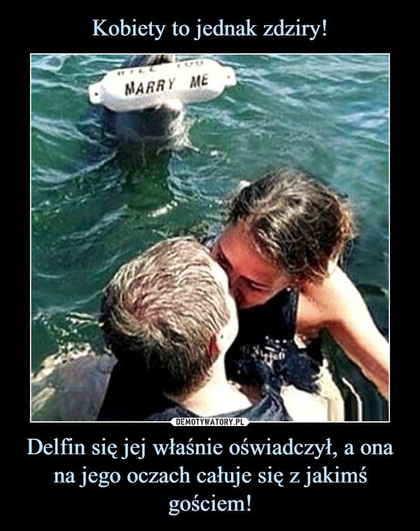Delfin się jej właśnie oświadczył, a ona na jego oczach całuje się z jakimś gościem! –