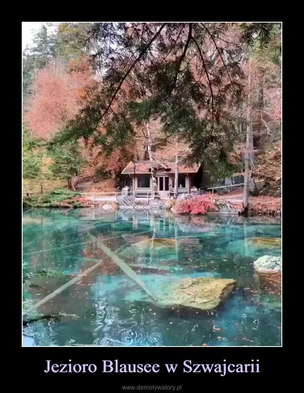 Jezioro Blausee w Szwajcarii –