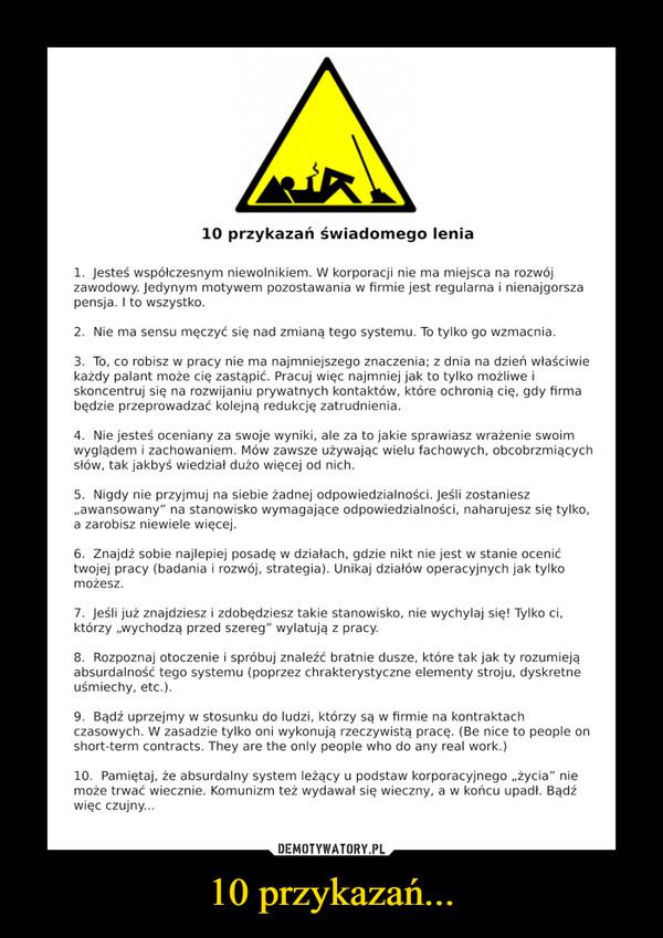 10 przykazań... –