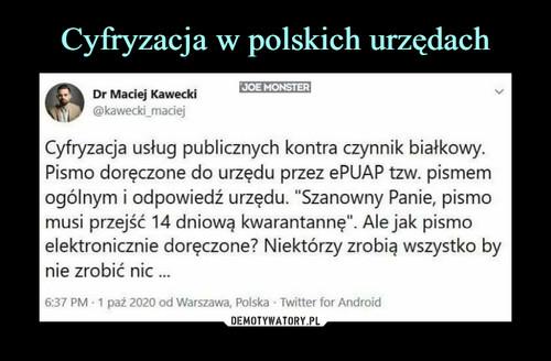 Cyfryzacja w polskich urzędach