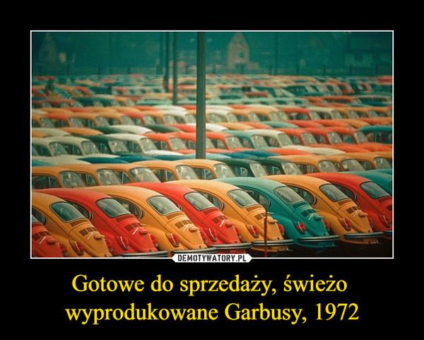 Gotowe do sprzedaży, świeżo wyprodukowane Garbusy, 1972 –