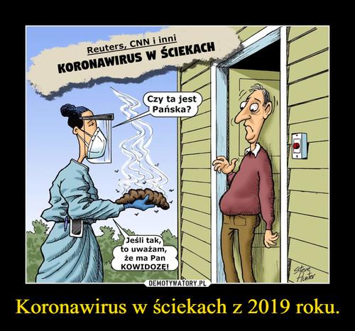 Koronawirus w ściekach z 2019 roku.