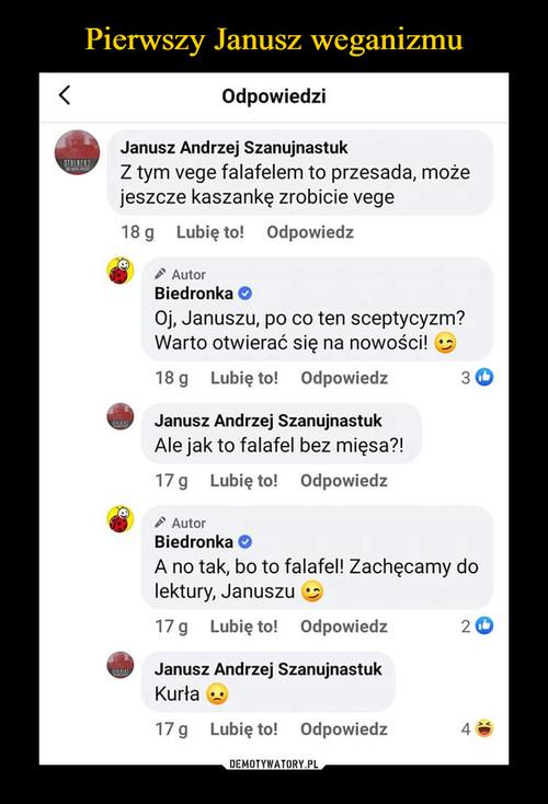 Pierwszy Janusz weganizmu