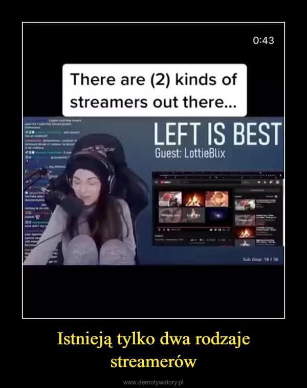 Istnieją tylko dwa rodzaje streamerów –