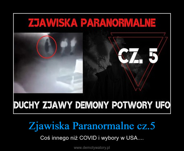 Zjawiska Paranormalne cz.5 – Coś innego niż COVID i wybory w USA....