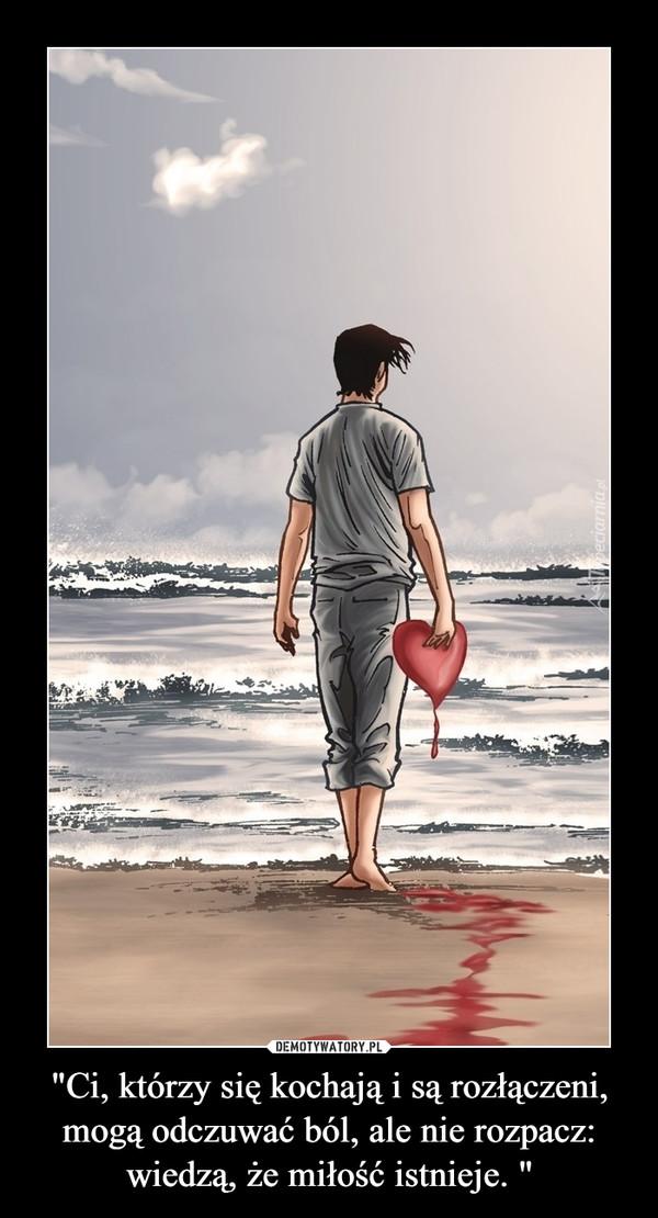 """""""Ci, którzy się kochają i są rozłączeni, mogą odczuwać ból, ale nie rozpacz: wiedzą, że miłość istnieje. """" –"""