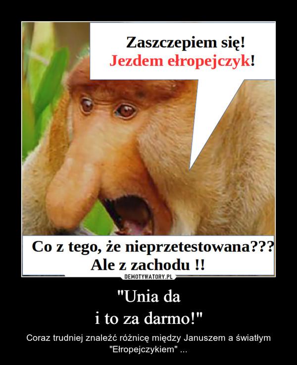 """""""Unia dai to za darmo!"""" – Coraz trudniej znaleźć różnicę między Januszem a światłym """"Ełropejczykiem"""" ..."""