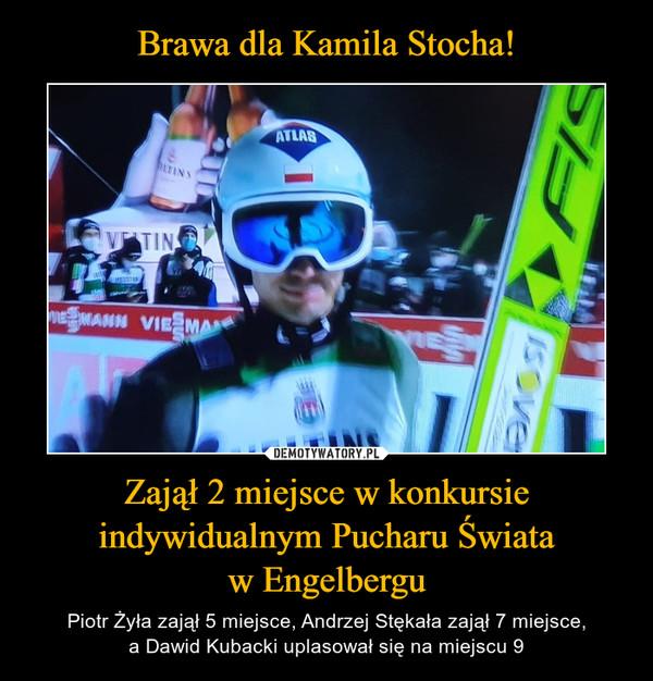 Zajął 2 miejsce w konkursie indywidualnym Pucharu Świataw Engelbergu – Piotr Żyła zajął 5 miejsce, Andrzej Stękała zajął 7 miejsce,a Dawid Kubacki uplasował się na miejscu 9
