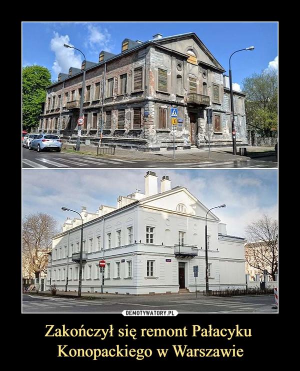Zakończył się remont Pałacyku Konopackiego w Warszawie –