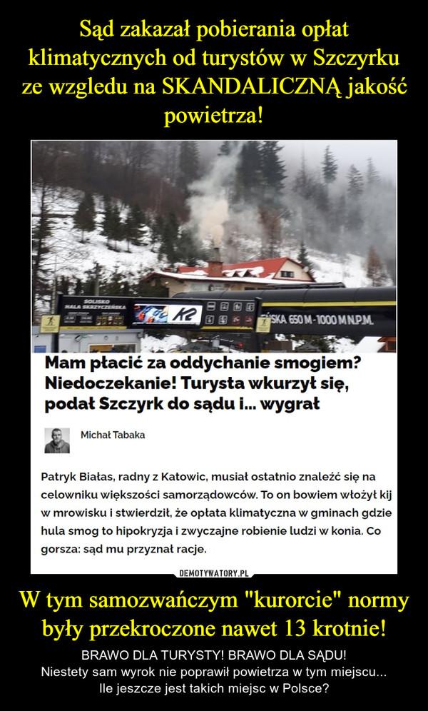 """W tym samozwańczym """"kurorcie"""" normy były przekroczone nawet 13 krotnie! – BRAWO DLA TURYSTY! BRAWO DLA SĄDU!Niestety sam wyrok nie poprawił powietrza w tym miejscu...Ile jeszcze jest takich miejsc w Polsce?"""