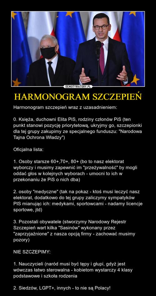 HARMONOGRAM SZCZEPIEŃ