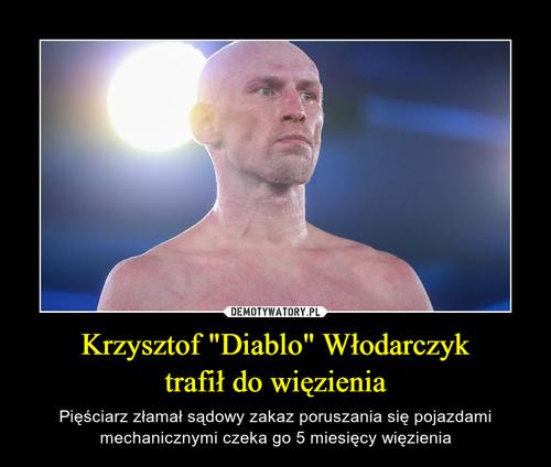 """Krzysztof """"Diablo"""" Włodarczyk trafił do więzienia"""