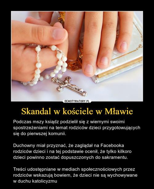 Skandal w kościele w Mławie