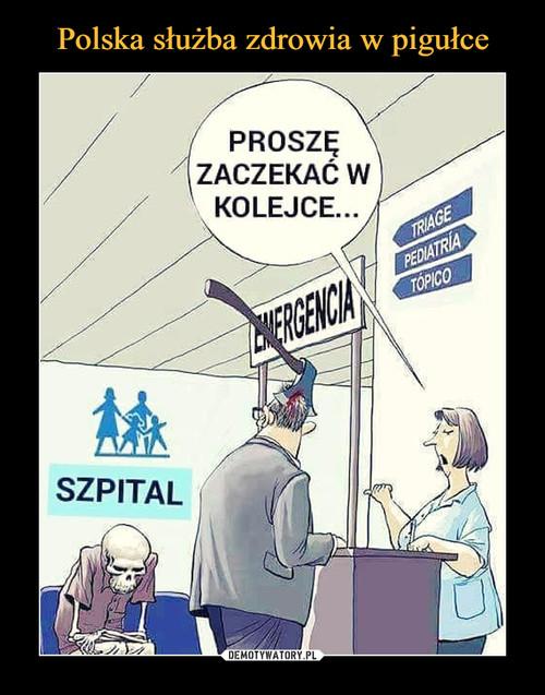 Polska służba zdrowia w pigułce