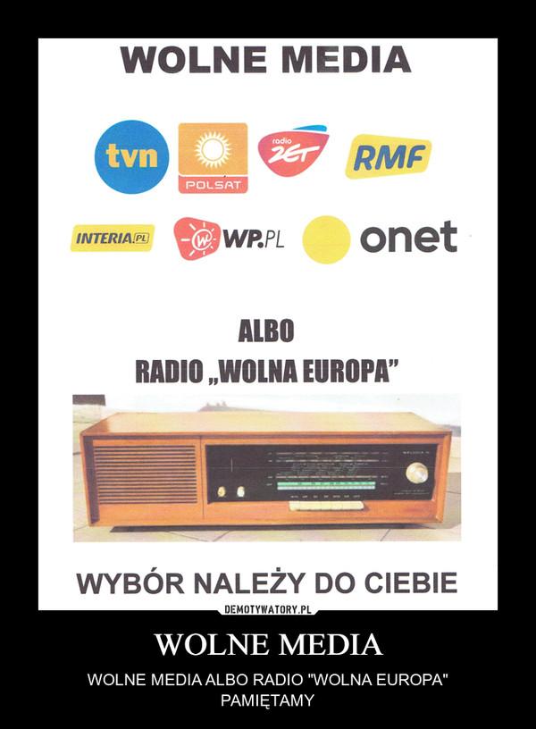 """WOLNE MEDIA – WOLNE MEDIA ALBO RADIO """"WOLNA EUROPA""""PAMIĘTAMY"""