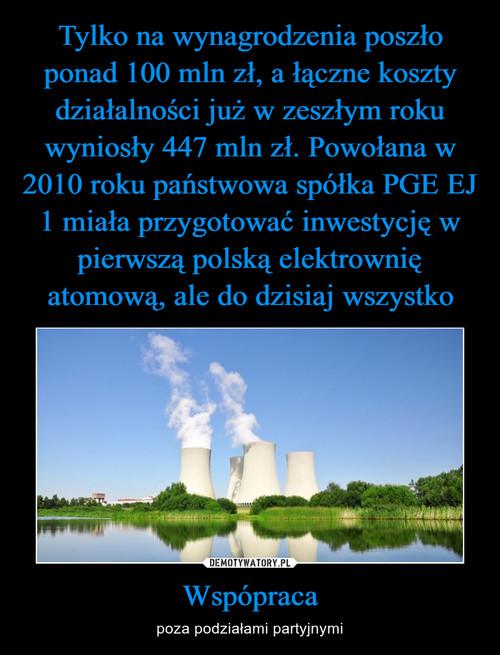 Tylko na wynagrodzenia poszło ponad 100 mln zł, a łączne koszty działalności już w zeszłym roku wyniosły 447 mln zł. Powołana w 2010 roku państwowa spółka PGE EJ 1 miała przygotować inwestycję w pierwszą polską elektrownię atomową, ale do dzisiaj wszystko Wspópraca