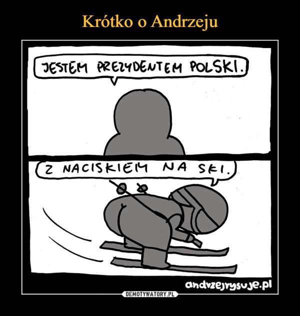 –  Jestem prezydentem Polski z naciskiem na ski andrzejrysuje.pl