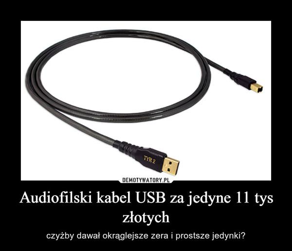 Audiofilski kabel USB za jedyne 11 tys złotych – czyżby dawał okrąglejsze zera i prostsze jedynki?