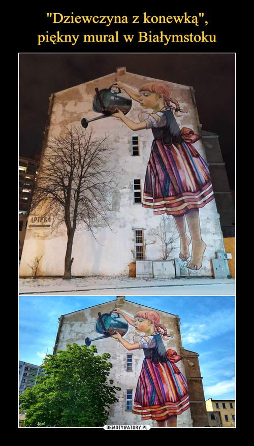 """""""Dziewczyna z konewką"""", piękny mural w Białymstoku"""