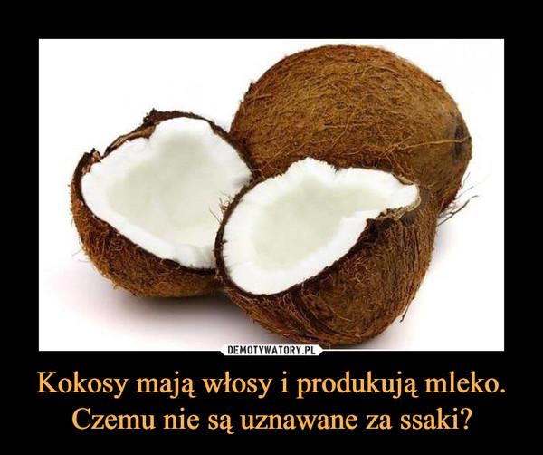 Kokosy mają włosy i produkują mleko.Czemu nie są uznawane za ssaki? –