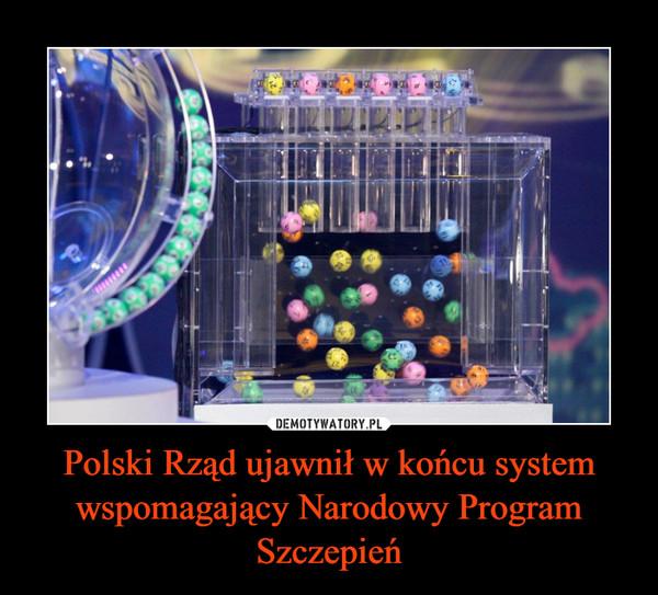 Polski Rząd ujawnił w końcu system wspomagający Narodowy Program Szczepień –