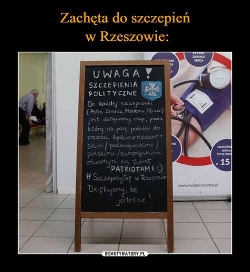 Zachęta do szczepień  w Rzeszowie: