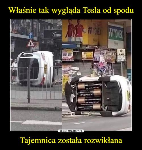 Właśnie tak wygląda Tesla od spodu Tajemnica została rozwikłana