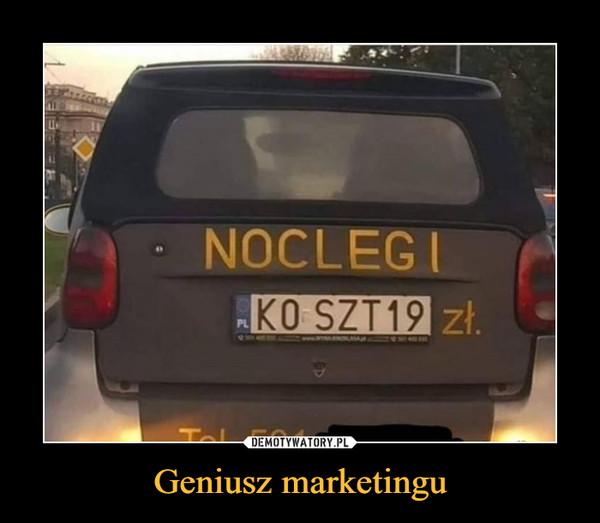 Geniusz marketingu –