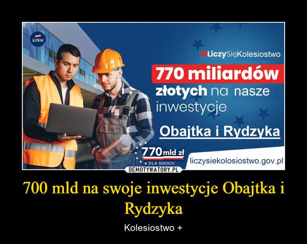 700 mld na swoje inwestycje Obajtka i Rydzyka – Kolesiostwo +